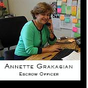 Annette Grakasian, V.I.P. Escrow Officer